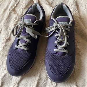 Vionic Purple Gray Lace Sneakers 9.5 Wide